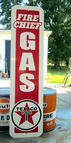 TEXACO FIRE CHIEF GAS SIGN SERVICE STATION  REGULAR GASOLINE OIL