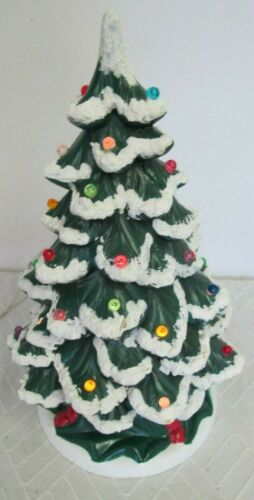 HOLLAND VINTAGE  CERAMIC LIGHTED CHRISTMAS TREE WITH BASE 12""