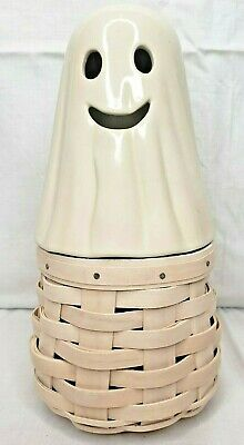Longaberger Boo! Ghost Basket NWT Rare Halloween White with Protector 2013
