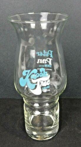 Vtg 1976 Kapok Tree Inn Souvenir Hurricane Tiki Glass Peter Pan Inn Urbana MD