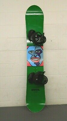 EVOL 160cm Twin-Tip All-Mountain Snowboard w/RED Bindings Size Large GREAT LOOK
