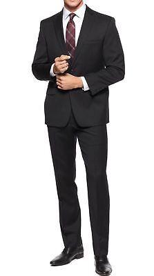 - $650 New Calvin Klein Modern Fit Single Breasted Wool Black Suit Set 38 R / 32 W