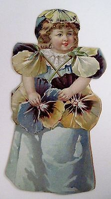 Yellow Dress For Little Girl (Darling Victorian Trade Card for