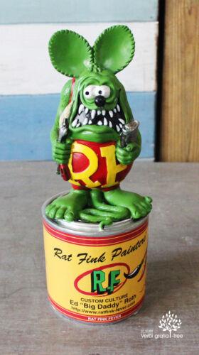 "8"" Rat Fink Fever Collection Ed ""Big Daddy "" Roth Green Rat Fink  Figure"