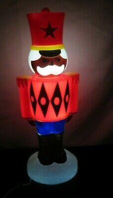 """Christmas Blow Mold TOY SOLDIER Light Lighted Tabletop NEW 14"""""""