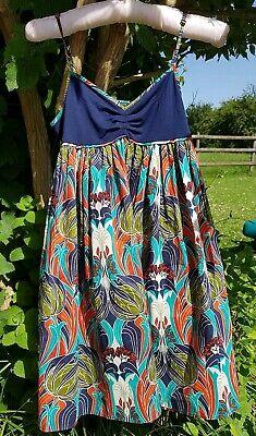 topshop kate moss summer tunic  dress 10 art nouveau liberty style pattern