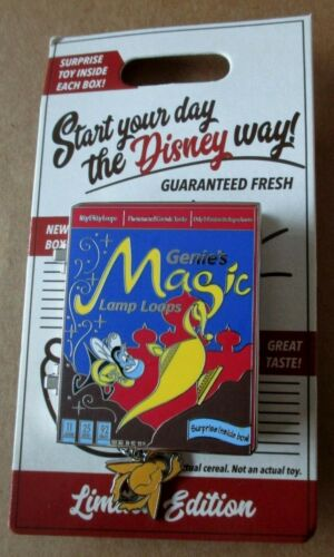 """DISNEY - Aladdin """"GENIE"""" Pin of the Month - Cereal Box Pin - LE4000"""