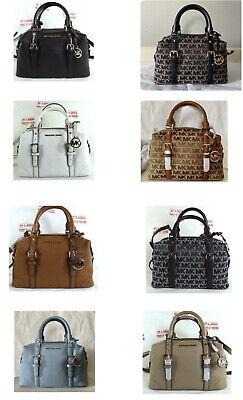 Michael Kors Small Ginger MK Signature Leather Duffle Satchel Crossbody Bag