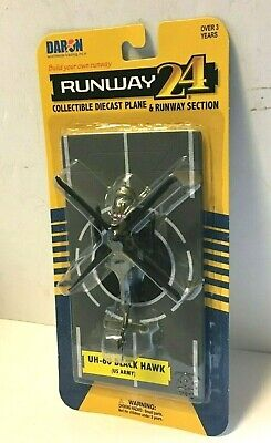 Runway 24 UH-60 Black Hawk US ARMY Diecast Modern Helicopter Toy MIP for sale  Springboro