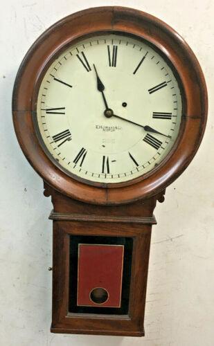 Antique E. Howard #70 Weight Driven Mahogany Wall Clock