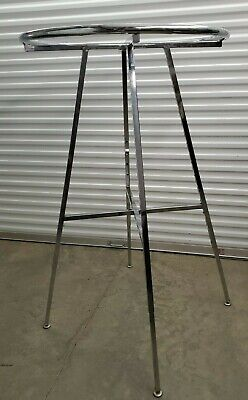 Chrome Round Clothing Rack 46-67h 3 Increments 3 Diameter Folds Flat
