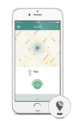 Trackr Pixel Bluetooth Tracking Device For Phone Gps Wallet Purse Keys Dogs Cats