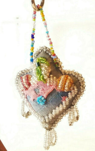 ANTIQUE Beaded IROQUOIS WHIMSY or PIN CUSHION