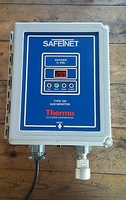 Safetnet Thermo Electron Type 100 Oxygen Gas Monitor 72-1302 115 Vac