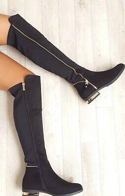 BNIB Kelsi Women's Suede Effect Knee-High Boots uk 4 37 RRP £59.00