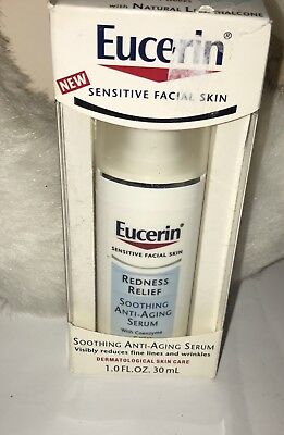 Eucerin Redness Relief Soothing Anti-Aging Serum 1 fl oz NEW IN BOX