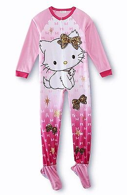 Size 10/12 Girls Zip Up Footed Pajamas Sanrio Charmmy Hello Kitty ...