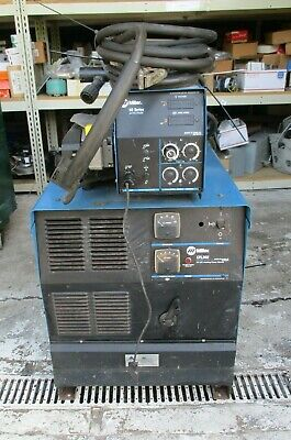 Used Miller Cp-302 Welder Welding Power Source With S-62 60 Series Wire Feeder