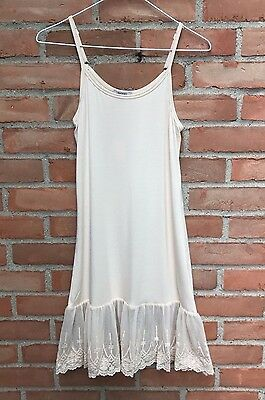 Nwt Jodifl Anthropologie Butter Ivory Adjustable Slip Dress Extender Sz S M L