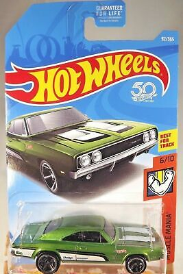 2018 Hot Wheels #92 Muscle Mania 6/10 '69 DODGE CHARGER 500 Green w/Black
