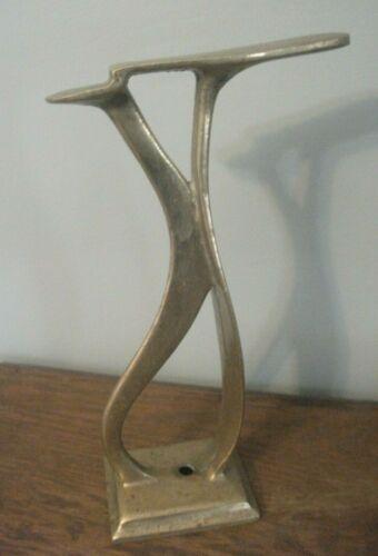 """Vintage Brass Shoe Shine Stand Cobbler Barber Shop Footrest 14"""""""