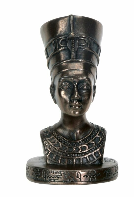 Ancient Egyptian Queen Nefertiti MINI Bust Statue Figurine Egypt Decoration New