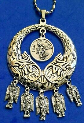 7 Charm Pack Religious Gift Miguel Jofiel Samuel Gabriel Raphael Uriel Zadkiell Holy Week Weekly Protection Medals of The Seven Archangels