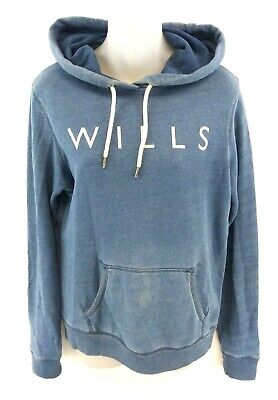 JACK WILLS Womens Hoodie Jumper 8 Blue Cotton  for sale  Shipping to Ireland