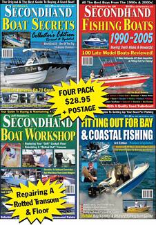 Secondhand Boat Secrets Mag Pack -Reviews Haines Hunter, Quintrex