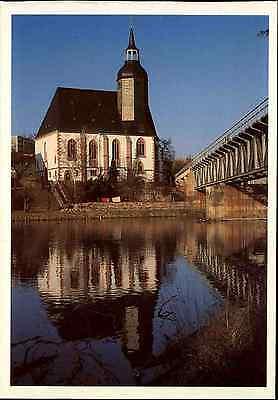 Kirchen Bauwerke Postkarte Kirche St. Petri Rochlitz Sachsen color AK ungelaufen