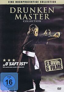 DOPPEL-DVD - Drunken Master Collection - 6 Filme - Schlitzauge sei wachsam u.a.