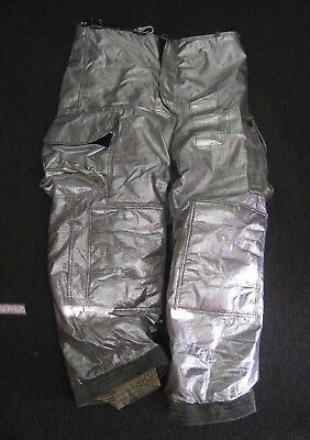 Janesville Lion Firefighter Proximity Turnout Pants Size 38 L Waist Aluminized