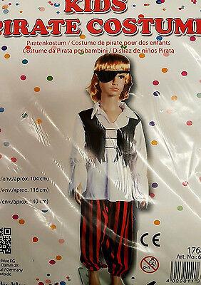 Kinder Piratenkostüm, Kostüm, Pirat, Fasching, Karneval, Größe 116