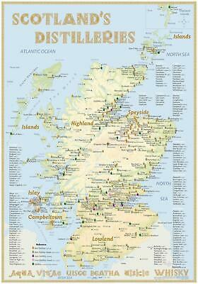 Whisky Distilleries Scotland - Poster 70x100cm Standard Edit ... 9783944148670