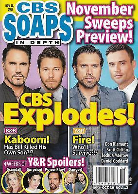 Cbs Soaps In Depth Magazine November 13 2017 Bold   The Beautiful Young Restless