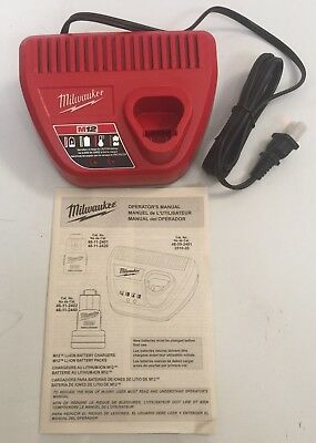 NEW MILWAUKEE 48-59-2401 M12 12V 12 Volt Lithium-Ion Battery Charger