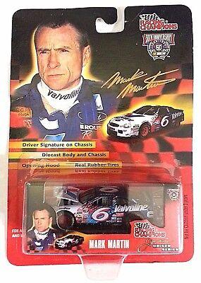 NASCAR Mark Martin Driver Series Race Car - #6 1/64 Diecast Signature on Chasis Mark Martin Race Car Driver