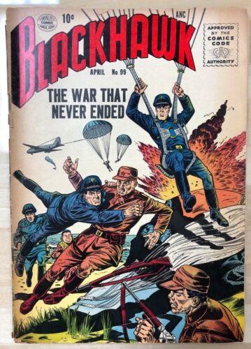 BLACKHAWK #99 (1956) Quality Comics VG+
