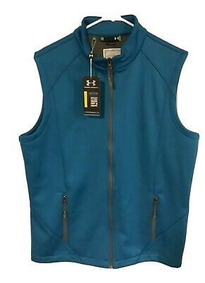 NWT Under Armour Golf Cold Gear Vest Mens Size Large Teal ACG New York