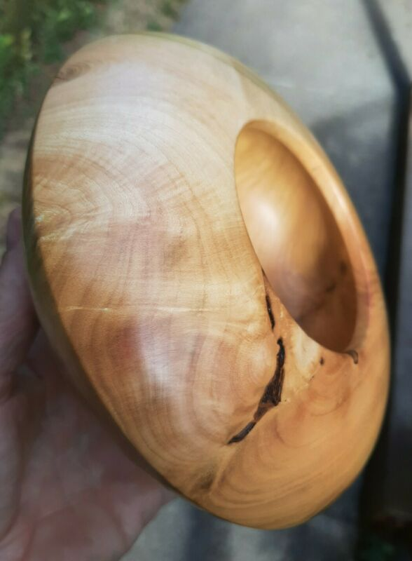 Cascara Burl Hollow Form/Bowl, Beautiful figure! ~ Dovecote Woodworking ~ (198)