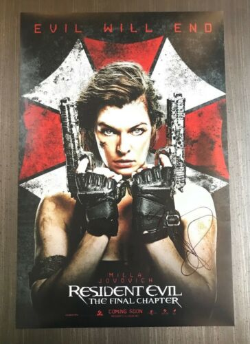 * MILLA JOVOVICH * signed autographed 12x18 poster photo * RESIDENT EVIL * 2