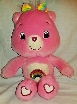 "14"" 2007 NEW CARE BEARS CHEER BEAR PINK RAINBOW STUFFED ANIMAL PLUSH JAKKS TOY for sale  Shipping to Canada"