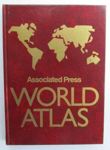 Vtg 1988 Associated Press World Atlas compact hardback journalism reference