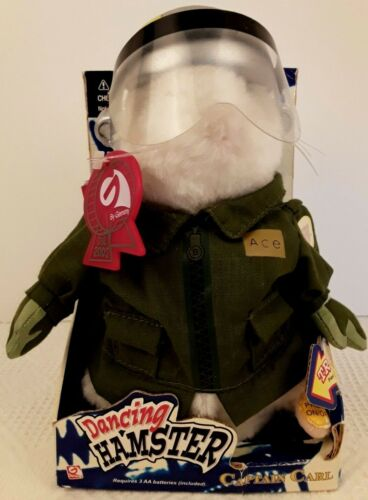 "NWB Dancing Hamster Captain Carl 2003 Gemmy Air Force Theme ""Wild Blue Yonder"""