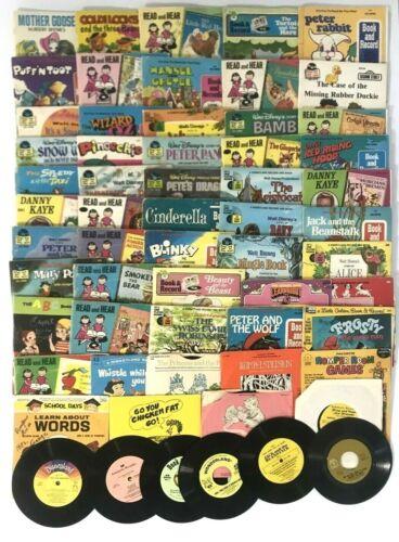 60 Vintage Walt Disney See Hear Read Children