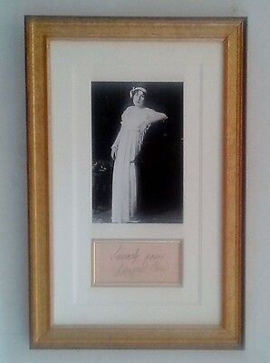 Lucrezia Bori opera singer Autograph Signed Album Page Mounted