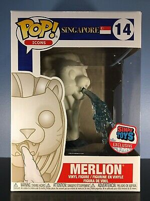 Funko POP! Icons #14 - Merlion - Simply Toys Singapore Exclusive - BOX CREASE