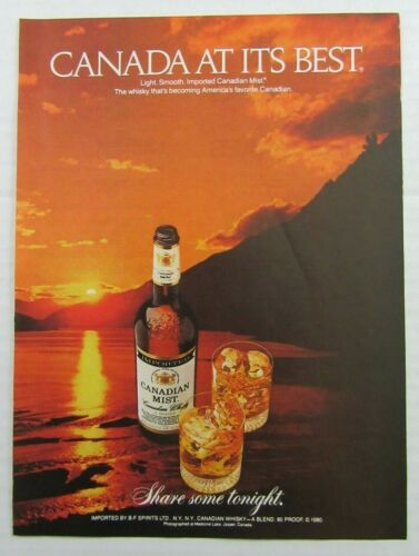 "1983 CANADIAN MIST Canadian Whisky ""Share Some Tonight"" Magazine Ad"