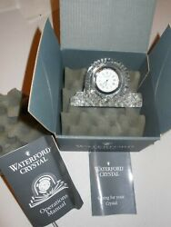 Waterford Crystal Small Mantel Clock Seiko Analogue Timepiece Box and manual