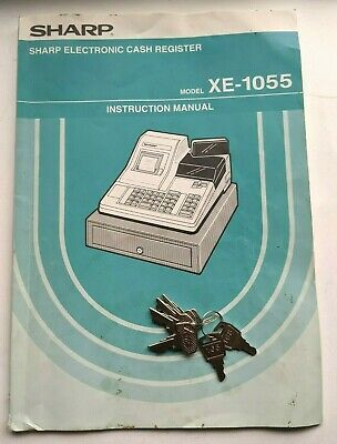 Sharp Xe-1055 Electronic Cash Register Instruction Manual With 6 Keys